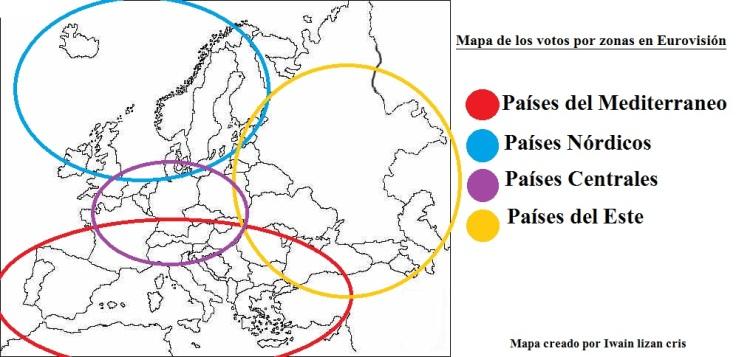 mapa de eurovision votos